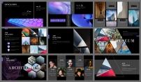 【抽象派】艺术紫罗兰酷炫模板3示例7
