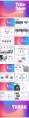 【炫彩光晕】欧美渐变配色光感简约创意报告模板示例7
