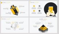 【黃色扁平商務圖表25頁】創意關系圖表 簡潔淺色1示例3