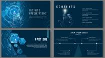 科技視覺商務模板3【簡潔實用模板-34】示例3