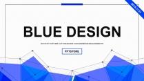 【设计中国】蓝色几何科技互联网工作通用PPT示例2