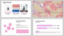 粉红大气简约水彩风PPT模板示例7