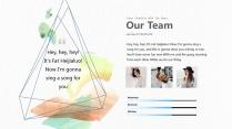 【水彩科技】视觉艺术时尚实用提案创意模板示例6