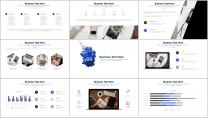 【水墨系列】清新简约商务通用报告模板-07|蓝色示例4
