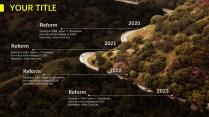 【绝美自然】深色自然风景简洁商务年终报告示例7