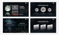 「宝藏系列」太空创意科技风汇报模板示例5