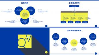 【蓝色商务通用模板】商务典藏动画版PPT看视频有惊示例6