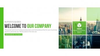 2015年绿色清新实用商务PPT模板