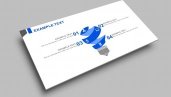 【精致简约】干净清爽蓝色经典商务实用PPT模板9示例5