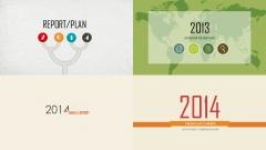 2014清新复古新年计划年终总结PPT模板合集4套