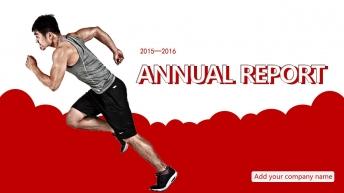 2015-2016红蓝灰商务年终总结计划PPT模板