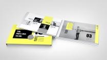 【玩色】亮黄色时尚杂志风PPT模板