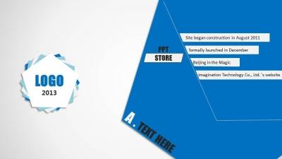 【【动态】蓝白小清新旋转叠纸通用模板ppt模板】-ppt