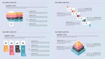 创意四色半立体现代商务图表【系列二第二期】