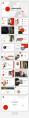 【簡約商務】紅色圓形創意幾何雜志風PPT模板示例5