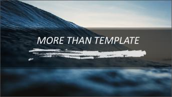 海洋静谧——高端大气企业商务汇报模板
