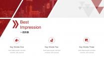 【RED】红色(四十一)商务工作报告模板【211】示例4