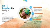【水彩科技】视觉艺术时尚实用提案创意模板示例3