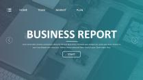 【欧美网页 第1弹】简约清新通用商务报告模板