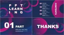 科技感紫蓝色大气商务报告PPT模板示例3