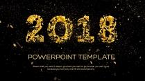 金色年终总结商务报告工作计划项目策划模板系列二十