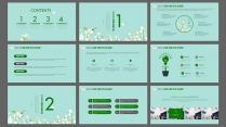 绿色清新教育教学教学课件工作计划办公汇报示例3