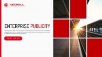 经典红画册风格企业文化工作总结PPT模板