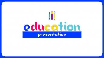 鲜艳多彩教育模板