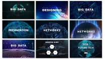 【未来科技】现代商务高品质可视化模板合集【含八套】