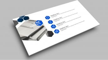 【精致简约】干净清爽蓝色经典商务实用PPT模板9示例3
