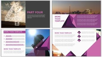 多边形可视化杂志排版实用PPT模板(震惊四座)示例7