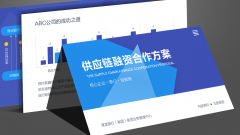 蓝色中文供应链金融融资互联网项目银行合作提案