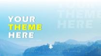 【高颜值蓝湖】 简约欧美风商务项目汇报书PPT模板