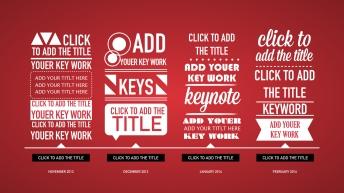 红色简洁商务keynote模版示例6