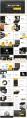 黄色大气欧美风商务汇报PPT模板示例8