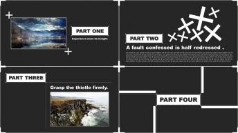 【另类极简】北欧风格图文+信息图表汇报/推介PPT示例3