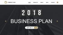 【简设计】2018黑白网页风科技IT商务通用PPT