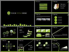 高端上档的图文数据展示型通用PPT模板