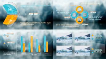 透明玻璃质感创意商务模板