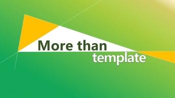 商務匯報/年度總結/綠色清新簡約/通用PPT模板