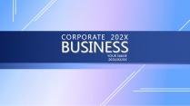 【漸變藍】簡約大氣商務計劃年終匯報雜志畫冊示例2
