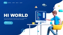 3D创意科技互联网公司企业项目工作汇报PPT(二)