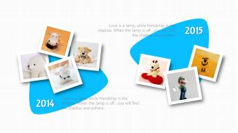 【简洁】可爱简约呆萌小清新照片展示模板示例5