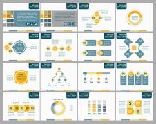 经典配色系列商务ppt模版4——工作总结汇报通用类示例3