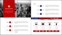 【商务大咖】红蓝简约公司企业项目工作汇报PPT示例5
