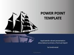 夜色小船-简洁-通用-工作总结汇报ppt模版