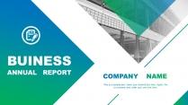 蓝绿画册—高端简约工作总结计划商务PPT