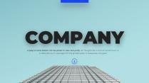 【正式】商務藍高端企業介紹提案ppt模板01示例2
