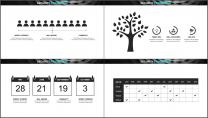 酷黑网页风企业/公司工作汇报PPT模板示例7