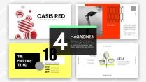 【杂志风】红橙黄绿的PPT模板合集(4套)